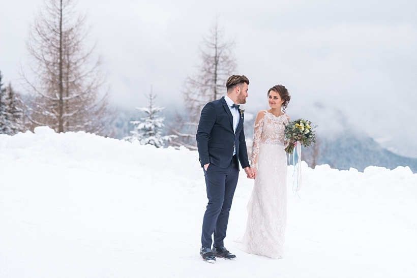 Hochzeitsfotograf Kufstein Hinterthiersee Tirol Österreich - Hochzeit Kala Alm Styled Shooting - Winter Mountain Elopement