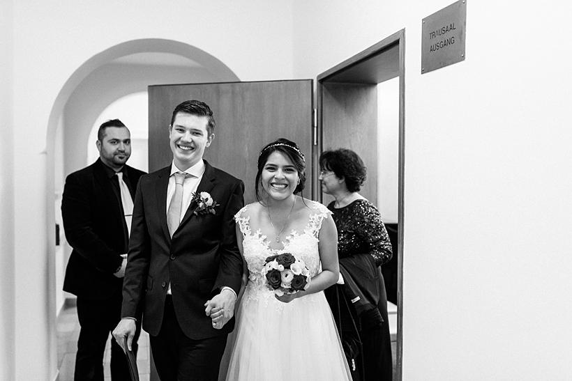 Hochzeitsfotos Standesamt Mandlstraße München und Marriott Hotel
