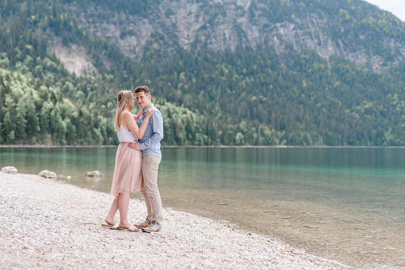 Paarfotos am Eibsee bei Garmisch an der Zugspitze
