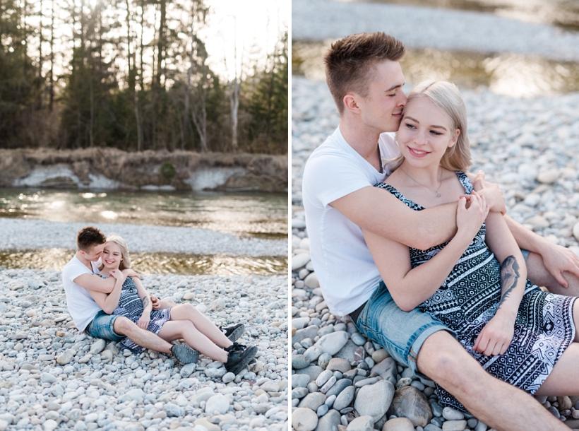 Sommerliche Pärchenfotos an der Isar