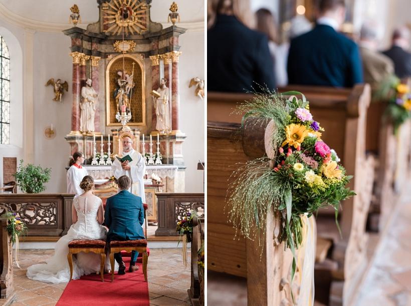 Hochzeitsfotos Marina Bernried St. Peter und Paul Kirche Tutzing