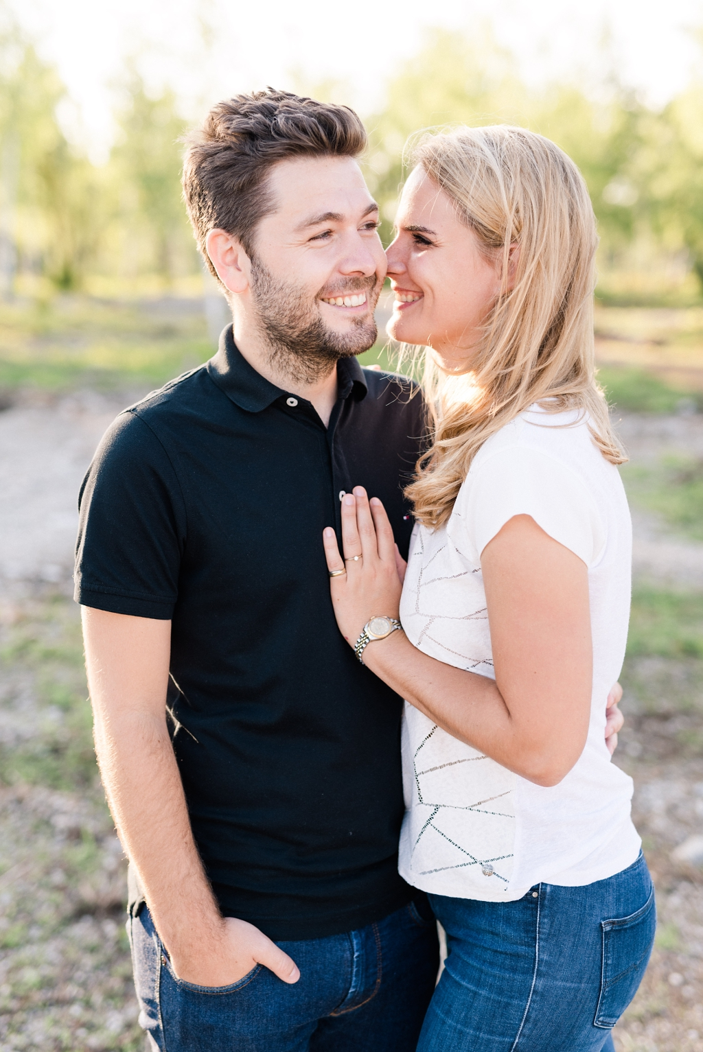Verliebtes Paar in München Fröttmaning
