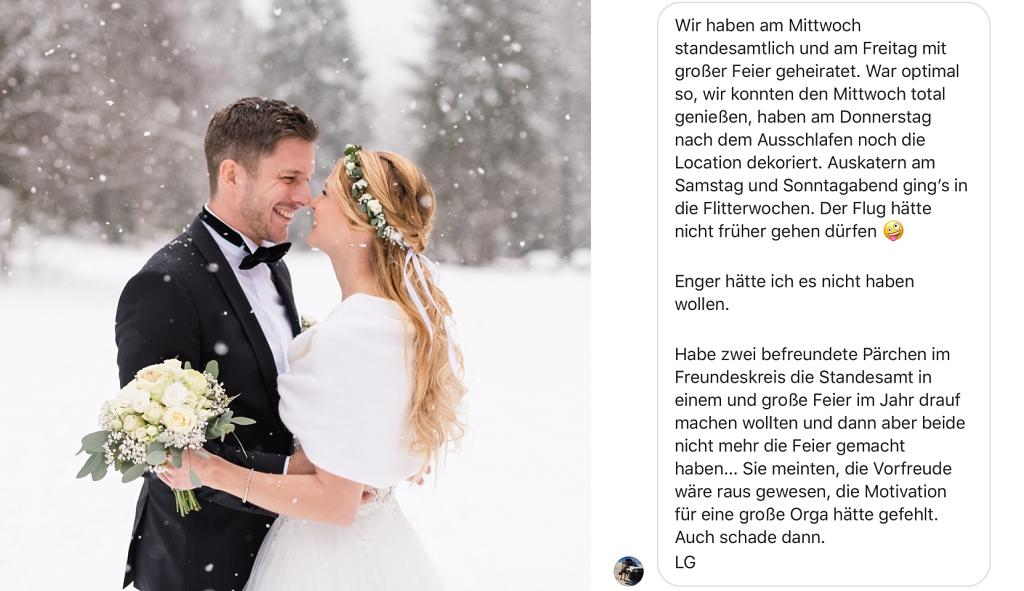 Erfahrungsbericht Braut