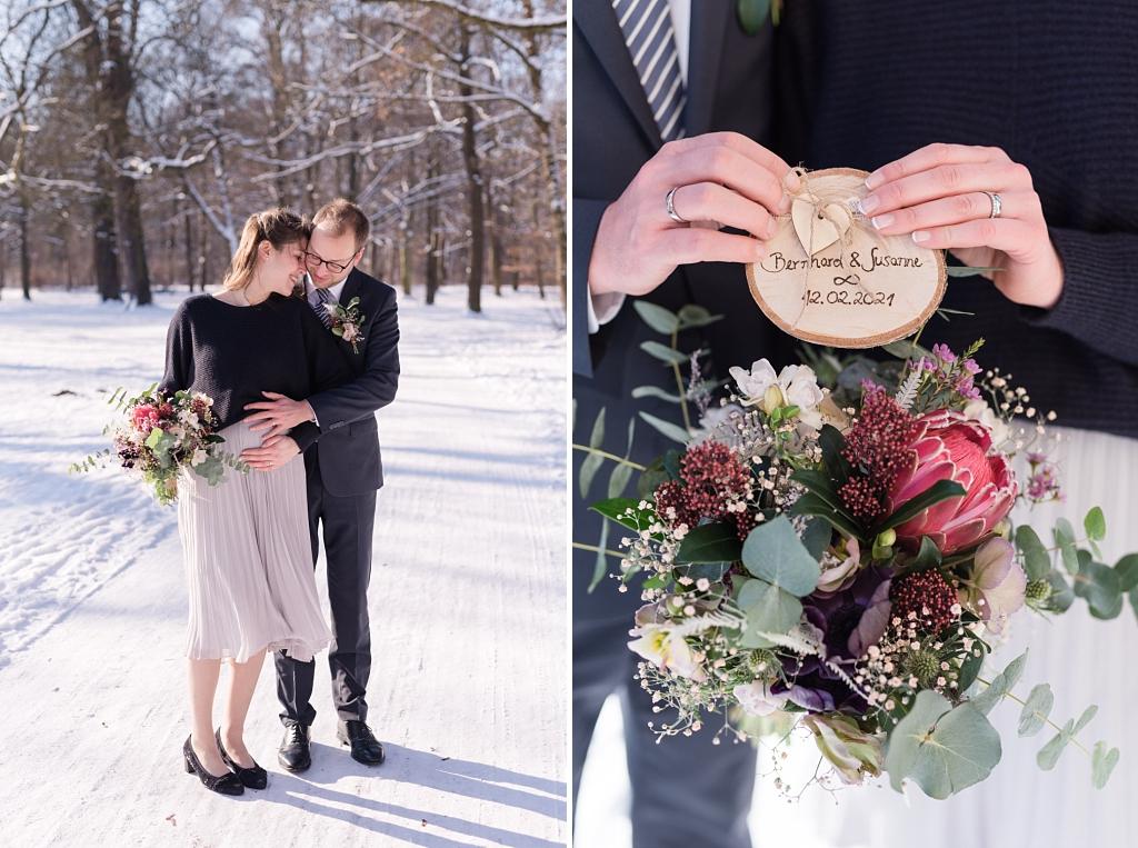 Hochzeitsfotos im Winter