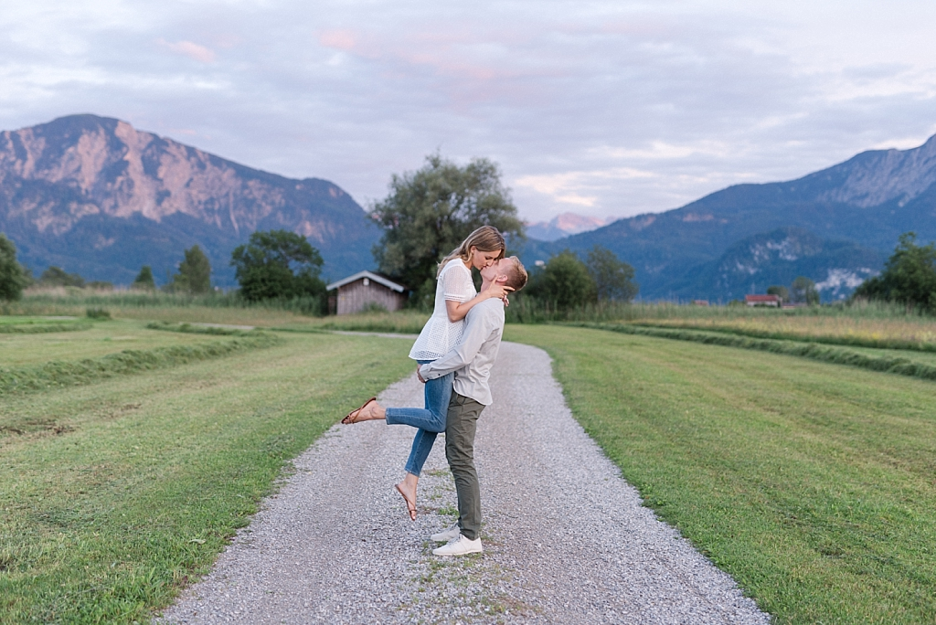 Fotoshooting mit Bergen und See bei München
